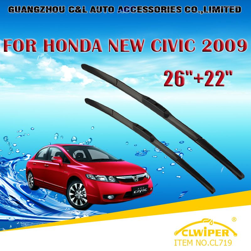 Wiper Blades For Honda Civic 2009 2010 2011 Car Windscreen Wiper