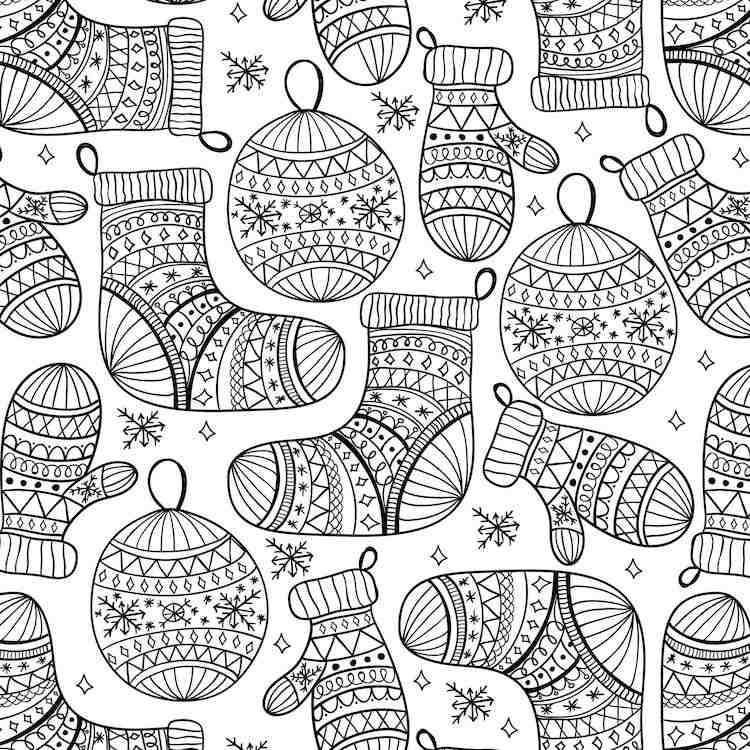 Coloriage decoration noel imprimer | Coloriage noel, Pages de