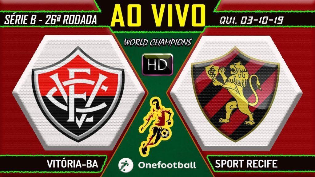 a Narração Online de Vitória x Sport Futebol AO