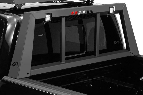 Accesorios Para Trocas Ford F150 >> Fab Fours® - Black Powdercoated Headache Rack (con ...