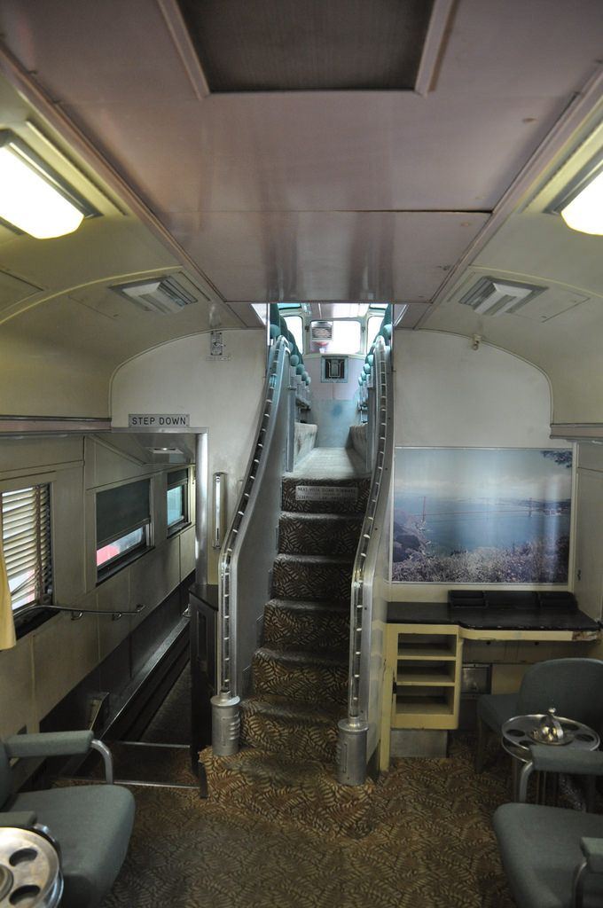 Wp 881 Silver Crescent Dome Stair View Luxury Train Vintage Train Train Pictures
