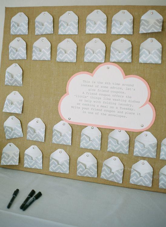 Cloud Themed Baby Shower Unique Guest Book Idea Friend Coupons
