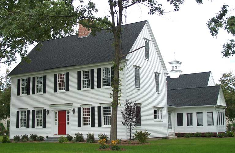 I love this house federal style colonial dream home for Colonial home colors
