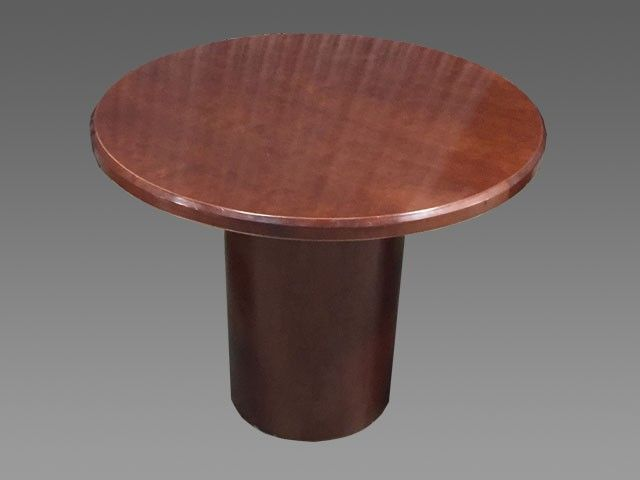 Mayline Mahogany Veneer Round Table PreOwned Conference - 36 round conference table