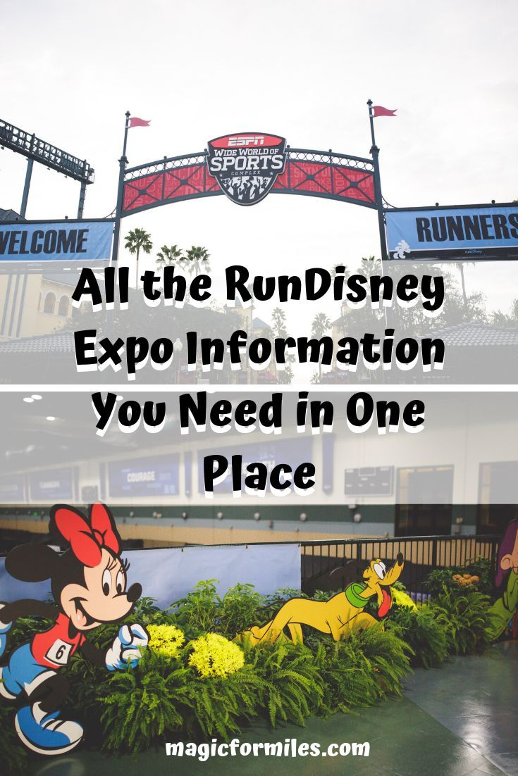 Everything you need to know about the RunDisney expo in one location. Wondering where the RunDisney Expo is held, how much time to spend at the expo or what to expect? Wonder no more, all the info regarding the RunDisney expo can be found here! #disneytips #rundisney #disneyexpo #rundisneyrunner #magicofdisney #disneyvacation #runner #runnerrace #disneyrace #disneyrunning #rundisneyevent #disneymarathon #dopeychallenge
