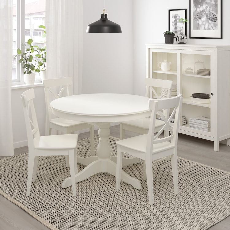 Ingatorp Extendable Table White Max Length 61 Ikea Small Kitchen Tables Ikea Dining Table Ikea
