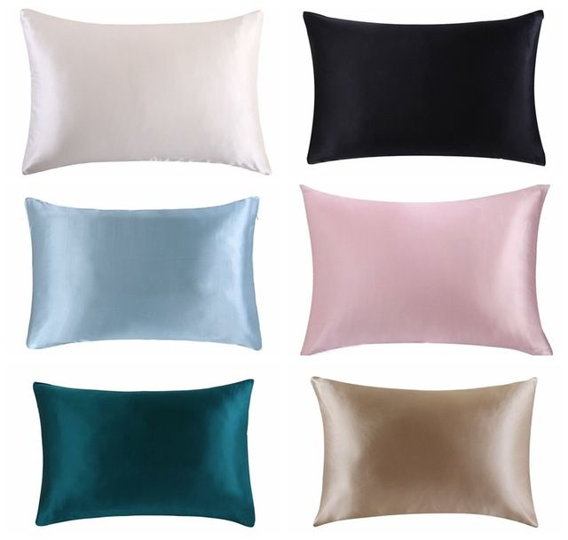 Free Shipping 100 Nature Mulberry Silk Pillowcase Zipper Pillowcases Pillow Case For Healthy Standard Queen King Multico Silk Pillowcase Pillows Cheap Pillows