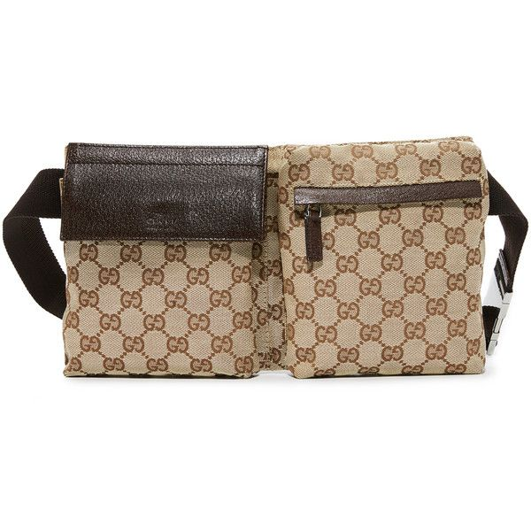 3f47f0fbc78f75 Pre-owned What Goes Around Comes Around Gucci Fanny Pack (Previously... (1  524 595 LBP) ❤ liked on Polyvore featuring bags, brown multi, brown bag, ...