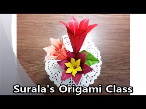How To Make an Origami Lily Flower | Origami Lily | Origami Paper Lily | Iris  Flower Instructions - YouTube | 360x480