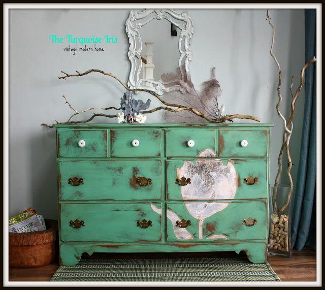 Mint Green Distressed Dresser Mint Green Furniture Green