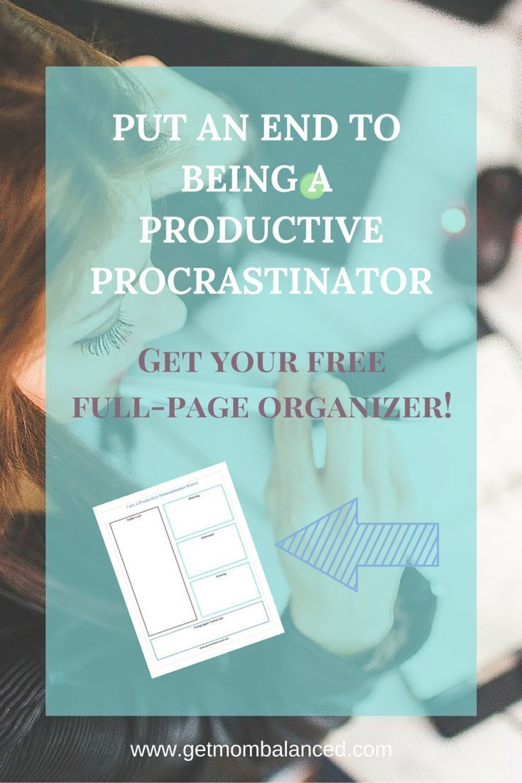 You may be a productive procrastinator if you have a long to-do list, get lots of it done, but you also put off some pretty important tasks. Includes a FREE organizer. Read now or pin for later.
