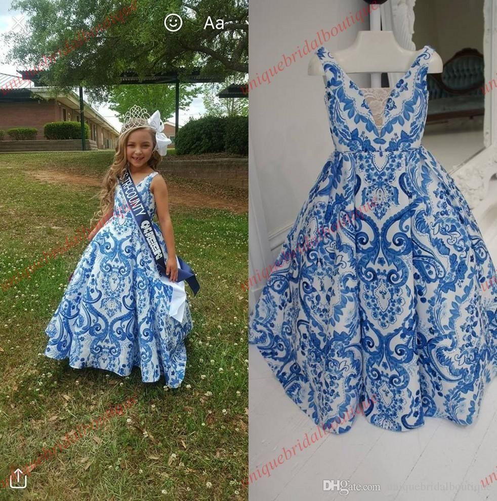 Toddler Infant Little Girls Kid Beauty Pageant Dresses 2017 Blue and ...