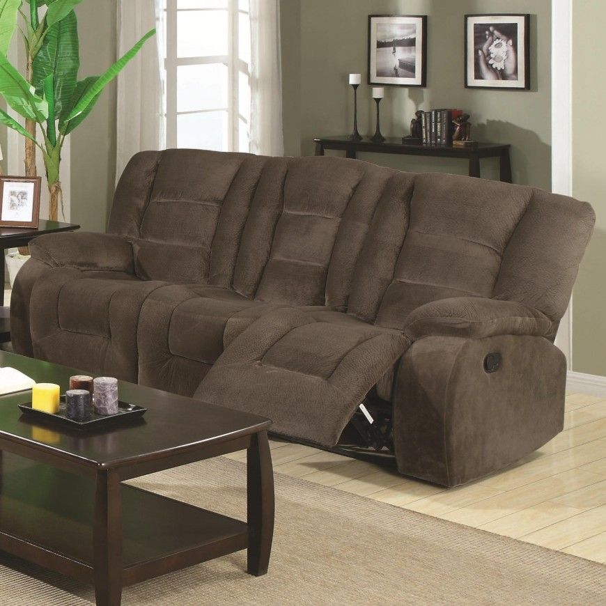 9brown Suede Small Recliner Sofa