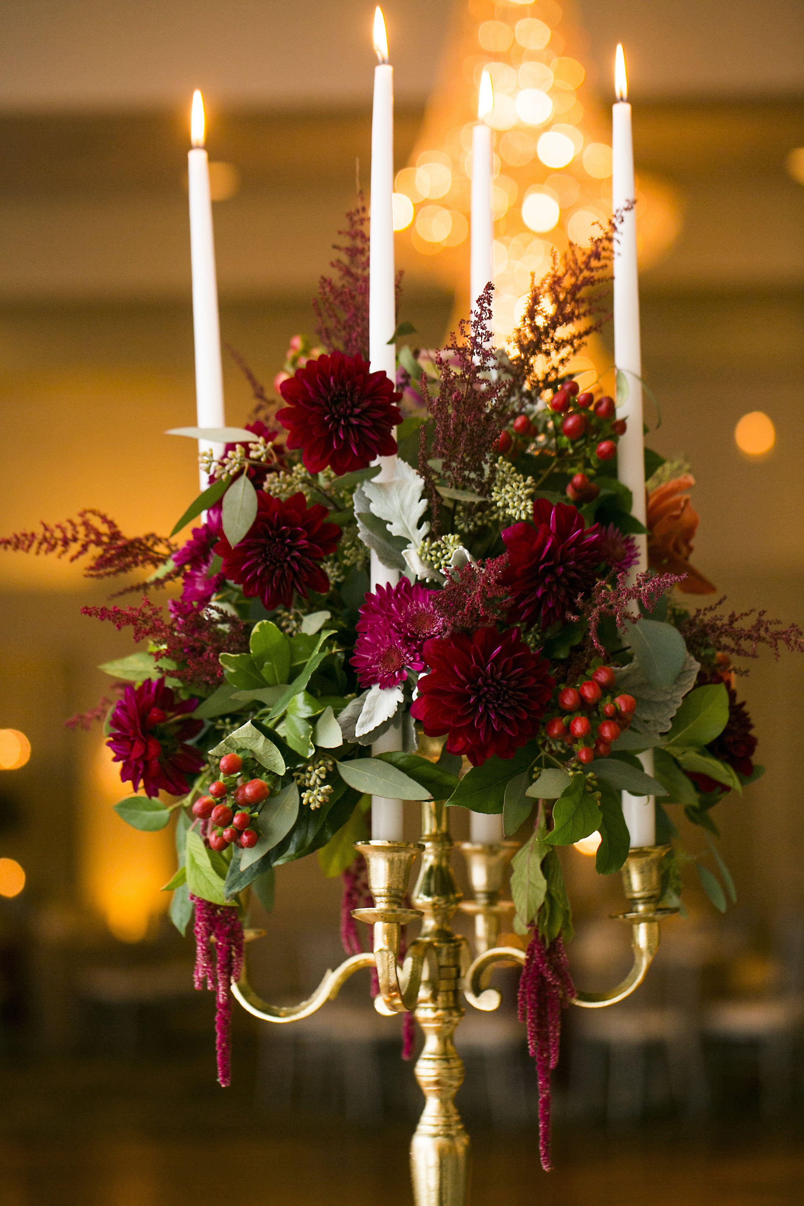 Stunning art deco ballroom wedding red green
