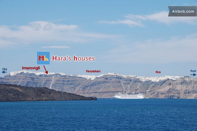Spotting Hara's Houses from the caldera