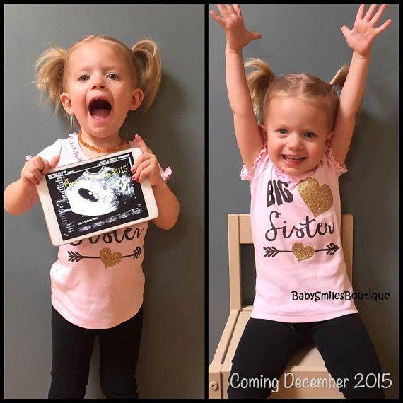 Big Sister Shirt Little Sister Shirt Sibling Shirts Personalized Shirt Sister Shirt Pregnancy Announcement Shirt Baby Announcement Shirt 123