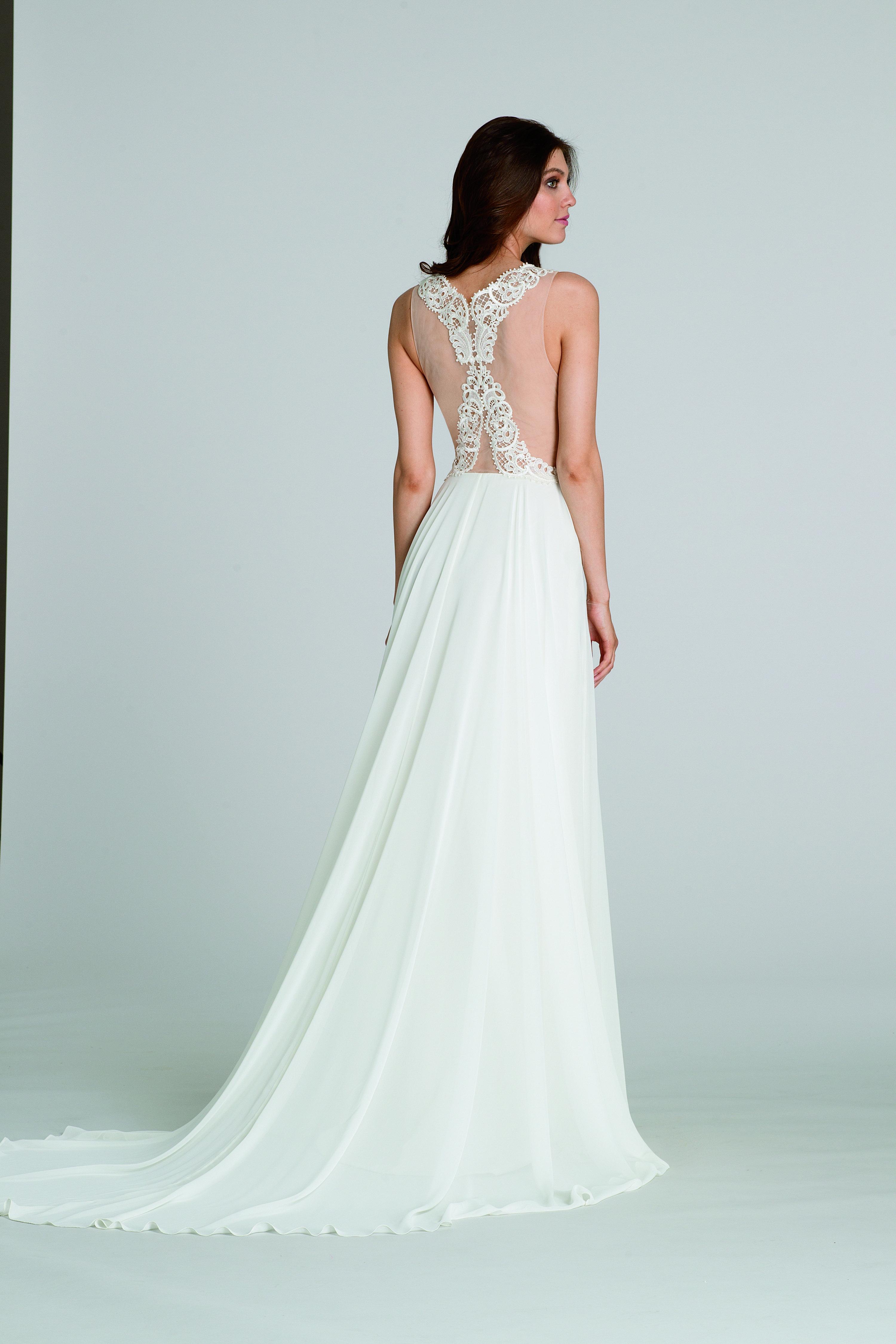 Perfect Lazaro Short Wedding Dresses Sketch - All Wedding Dresses ...