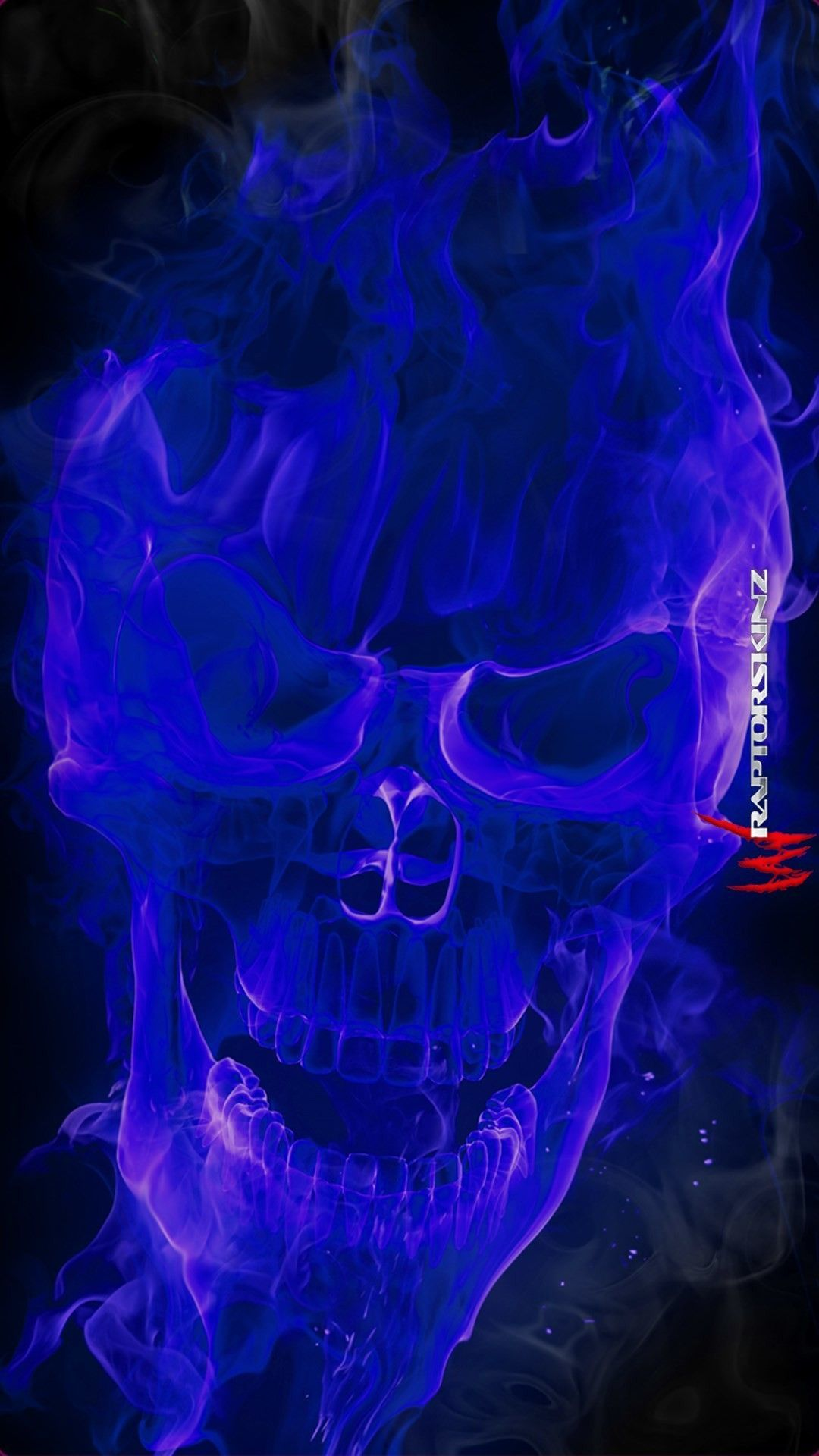 Blue Fire Background Image Snowman Wallpapers Skull Wallpaper Blue Skulls Skulls Drawing