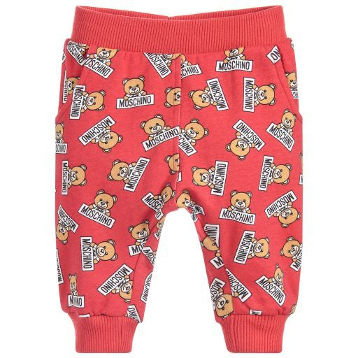 Moschino Baby Red Teddy Baby Joggers Childrensalon Lc Surprise