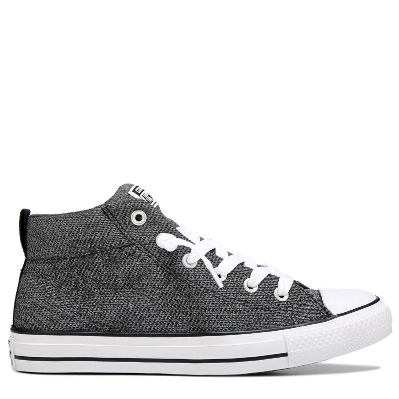 c2835484080 Converse Men s Chuck Taylor All Star Street Mid Top Knit Sneakers (Wolf  Grey Almost Bla)