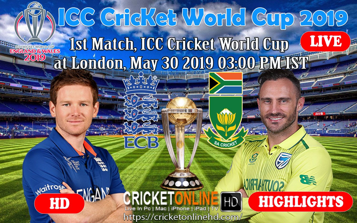 Pin On Icc Cricket World Cup 2019 Schedule Match Timings Venue Details
