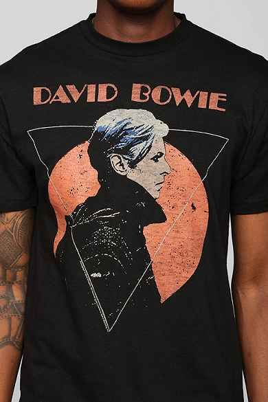 David Bowie Logo T Shirt Licensed Rock Band Merchandise Short Sleeve Tee Black