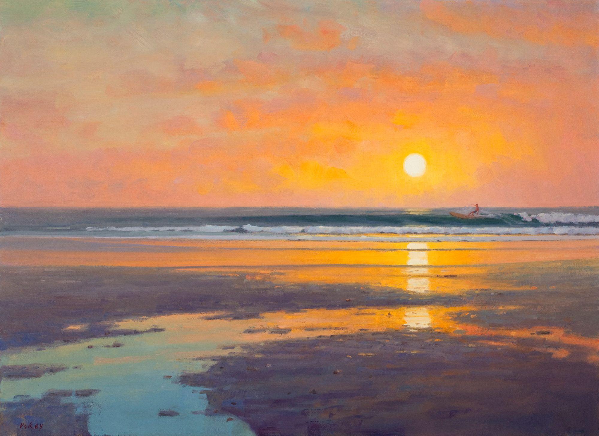 Beach Sunrise Jenness Beach Sunrise Sam Vokey Sunrise Painting Beach Scene Painting Seascape Paintings