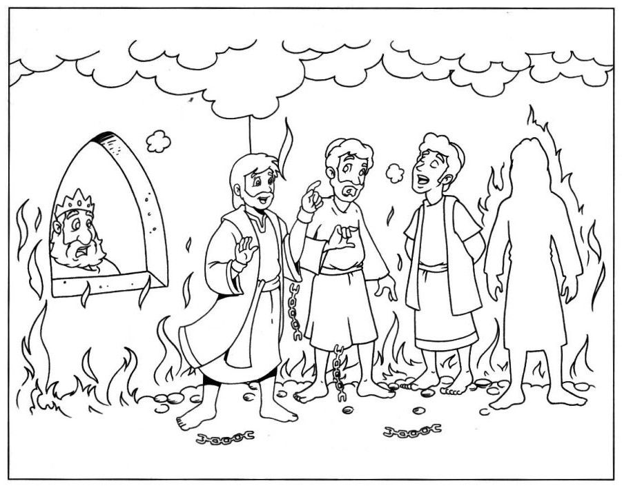 Shadrach Meshach And Abednego Coloring Pages Toddler Bible