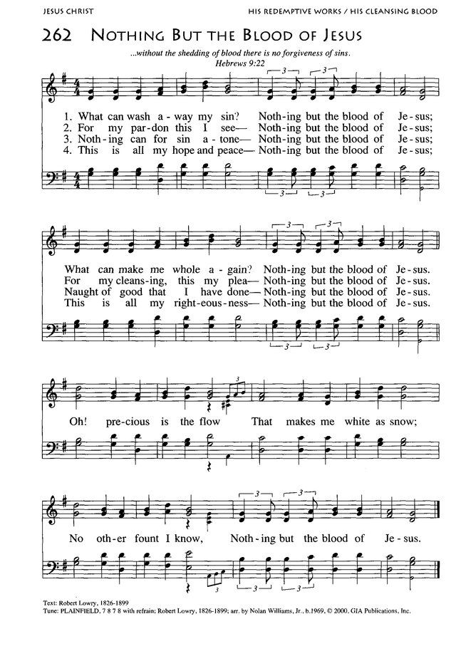 Lyric southern gospel music lyrics : Nothing But The Blood Of Jesus | Inspirational | Pinterest | Blood ...