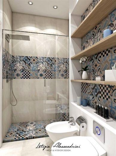 Monolocale A Milano Bagno In Stile In Stile Moderno Di Letizia Alessandrini Yacht Amp Interi Simple Bathroom Simple Bathroom Designs Bathroom Design Small