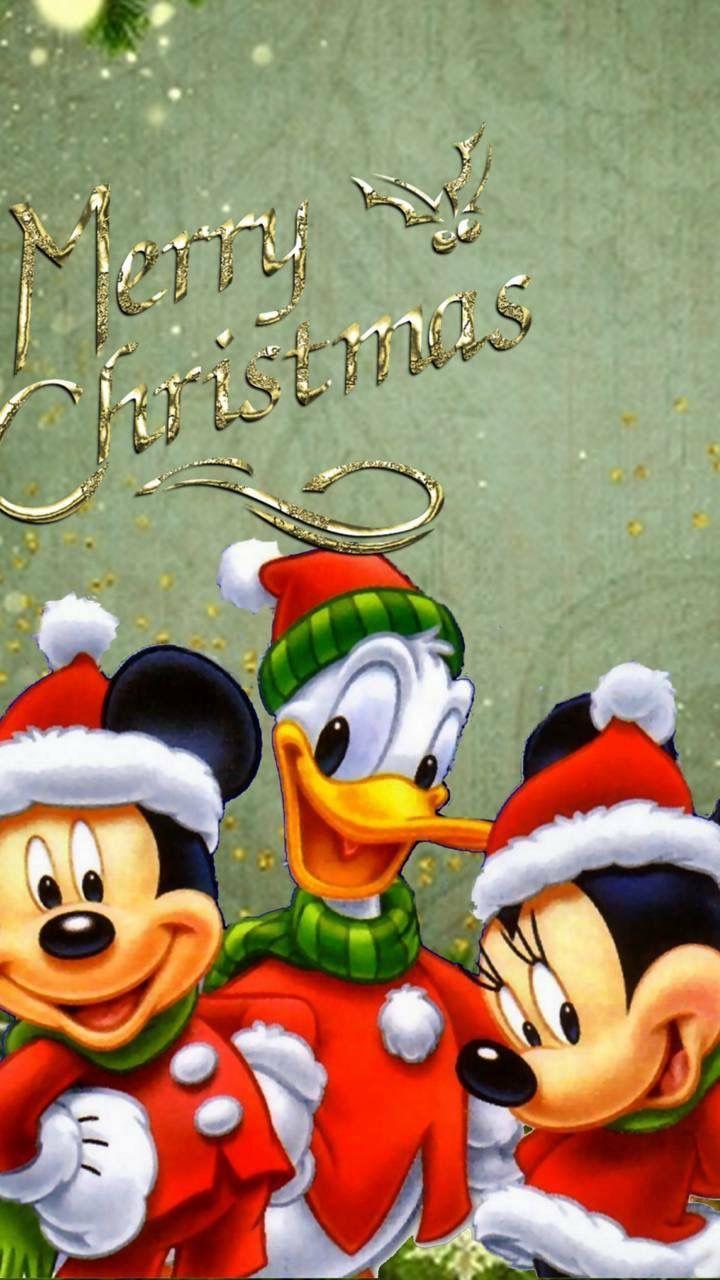 Felicitaciones De Navidad De Disney.Christmas Disney Mickey Minnie Mouse Donald Duck