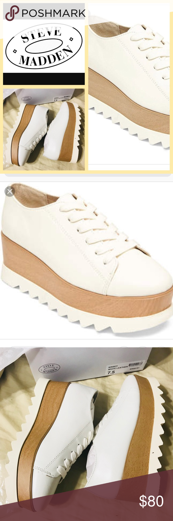 3c6dacffa0d Kinsey white leather by Steve Madden Kinsey white leather by Steve Madden