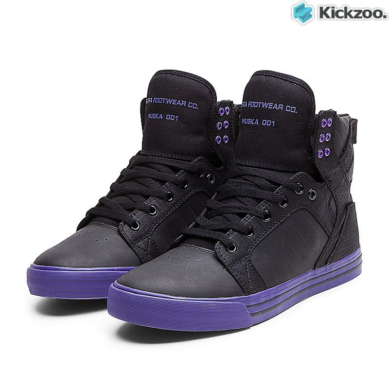 a54038d817 Supra Skytop High Black Purple Purple Mens Trainers Free UK | shoes ...