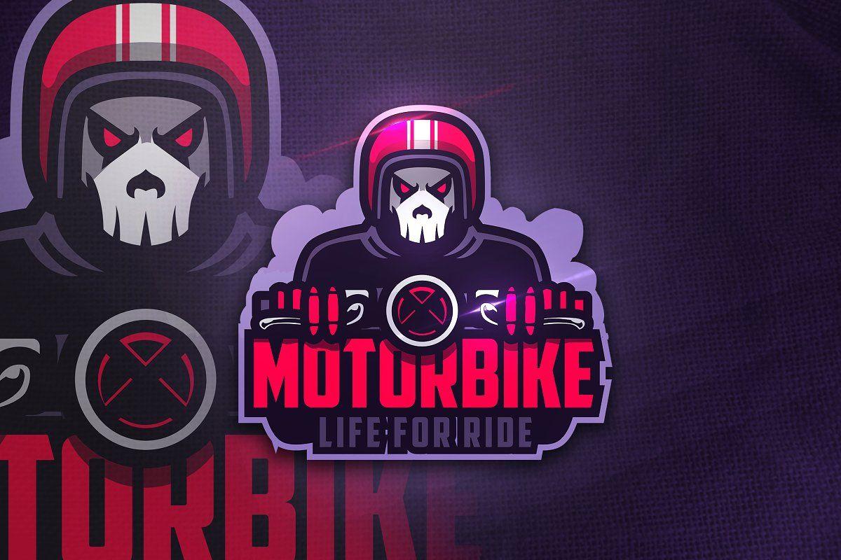 Motorbike Mascot Esport Logo Motorbike Logo Design Game Logo Design Bike Logo