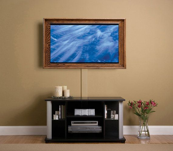Solid Oak Frame For Flat Screen Tv Wall Mounted Tv Tv Cord Cover Tv Wall