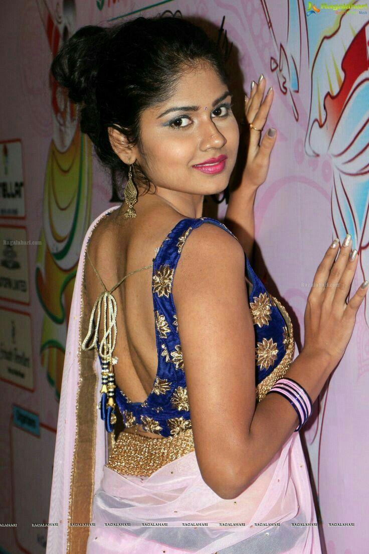 23da8e9fd142af Backless Saree Blouse Actress