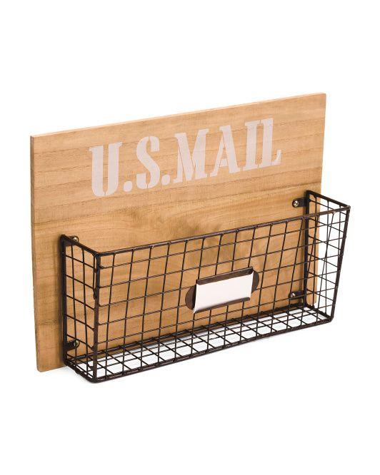 Marvelous Metal Wood Nameplate Wall Basket Apt Decor Baskets On Machost Co Dining Chair Design Ideas Machostcouk