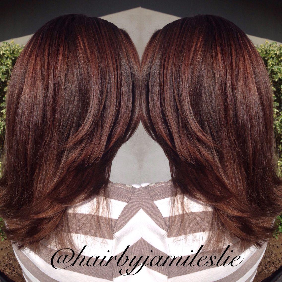 30+ Dark copper mahogany hair color inspirations