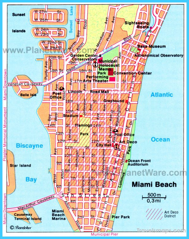 Nice Map Of Miami Florida Beach Travel