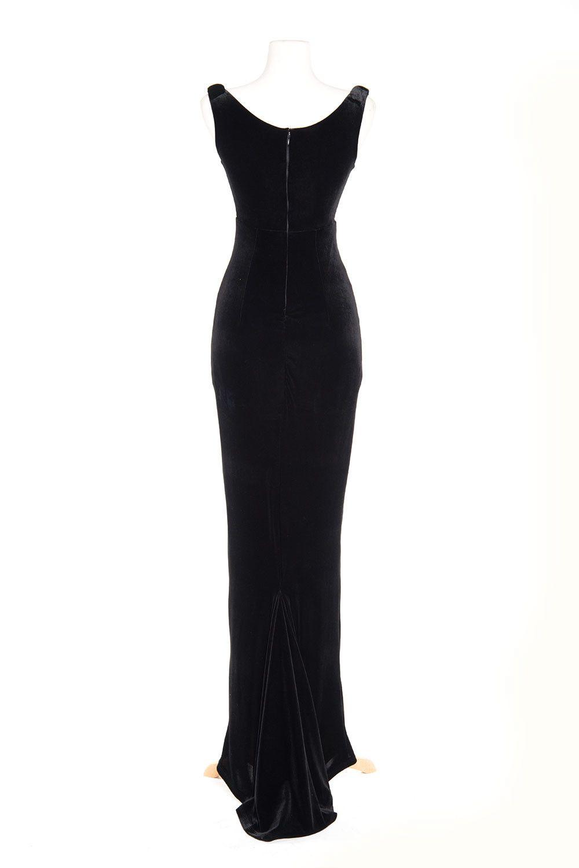 Laura Byrnes California Gilda Gown in Black Velvet | Black velvet ...