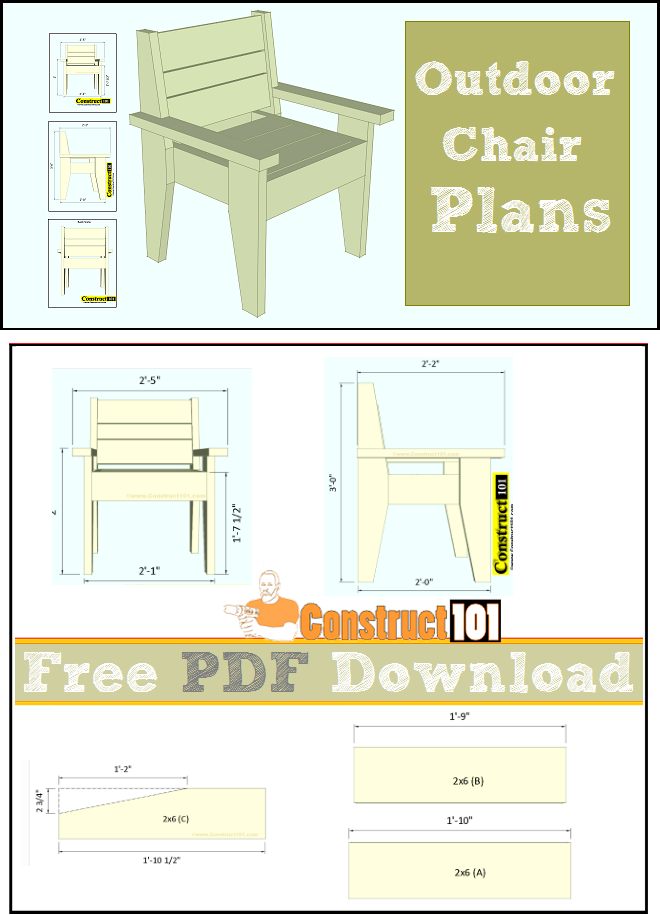 Easy To Build Outdoor Chair Pdf Download Outdoor Ideas Outdoor