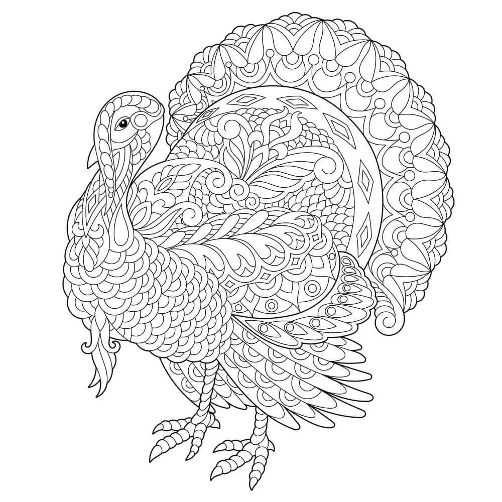Simple Turkey Coloring Pages Elegant Easy Turkey To Draw