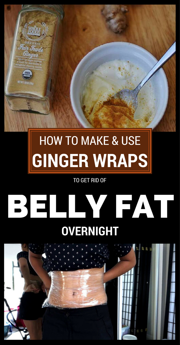 How To Make And Use Ginger Wraps To Get Rid Of Belly Fat Overnight