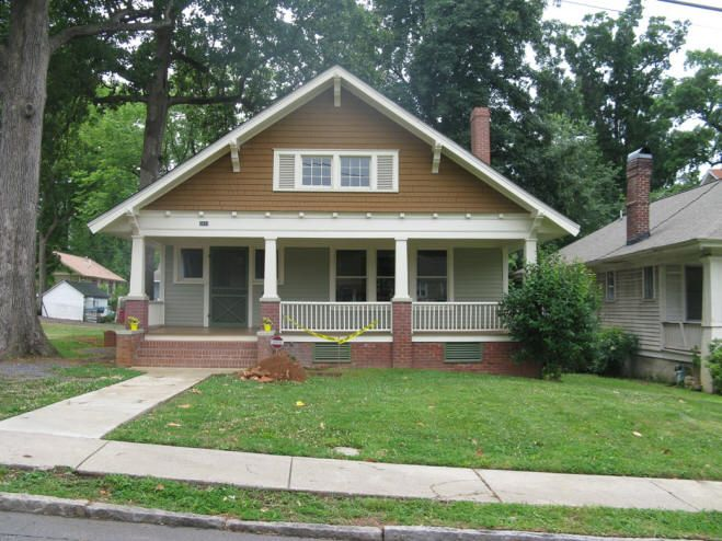 The Front Elevation Is Dominated By A Substantial Gable That Projects Over Recessed Porch Rebuilt Continuous Brick Foundation Interrupted
