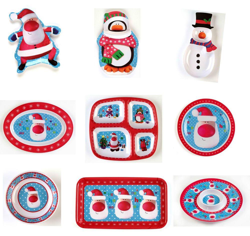 Christmas Party Melamine Christmas Tableware Platter Bowls Serving Plates Trays  sc 1 st  Pinterest & Christmas Party Melamine Christmas Tableware Platter Bowls Serving ...