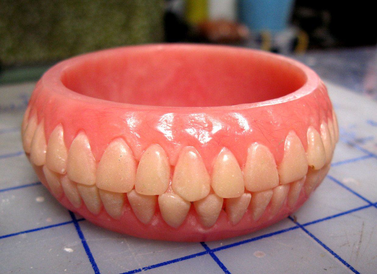 Now here's something you don't see everyday! Denture #Bracelet by @ConcaveOblivion on #Etsy