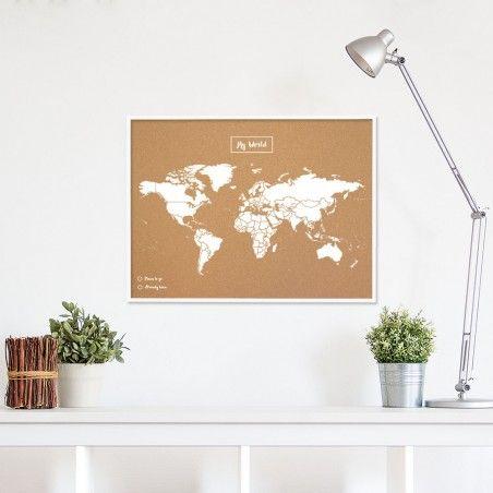 Carte du monde en liège   Carte politique du monde   Woody Map