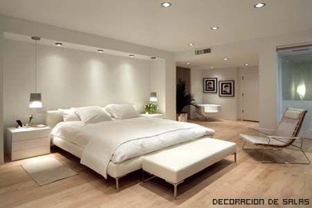 Dormitorio blanco moderno weddings dormitorios - Iluminacion de habitaciones ...