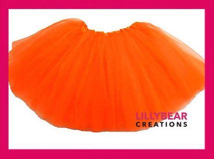 Girls Orange Tutu Skirt Toddler Tutu by LillyBearCreations on Etsy