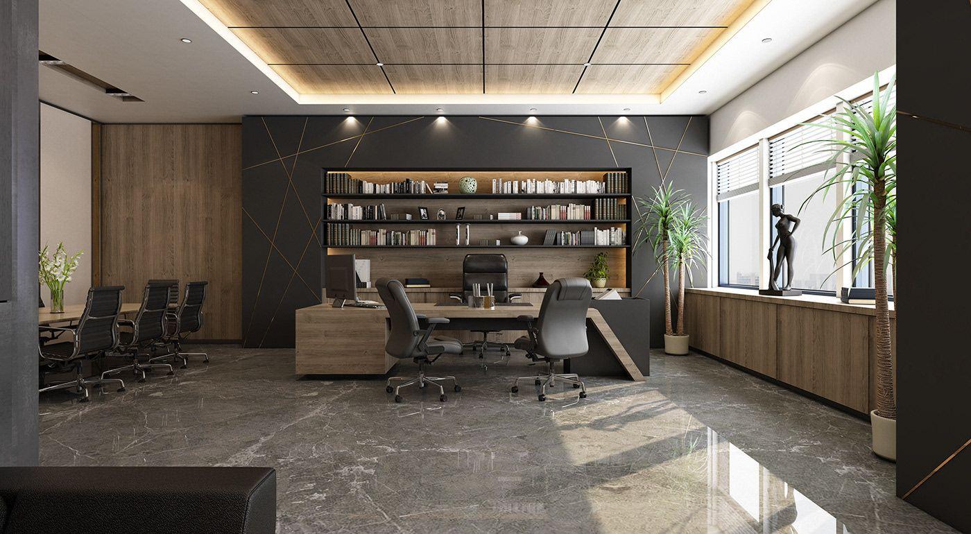 다음 Behance 프로젝트 확인 Ceo Office El Hamra Tower Kuwait